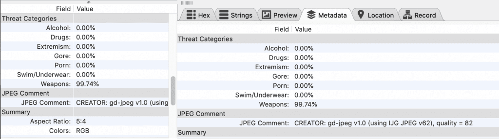 BlackLight 2019 R1: Viewing the threat category scores